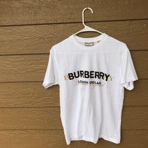 c51fc5dd Burberry Tops   Double Logo Print Cotton Tshirt Xxs   Poshmark